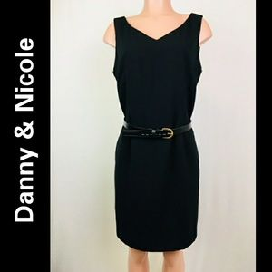 Danny & Nicole sleeveless midi dress sz 14P black